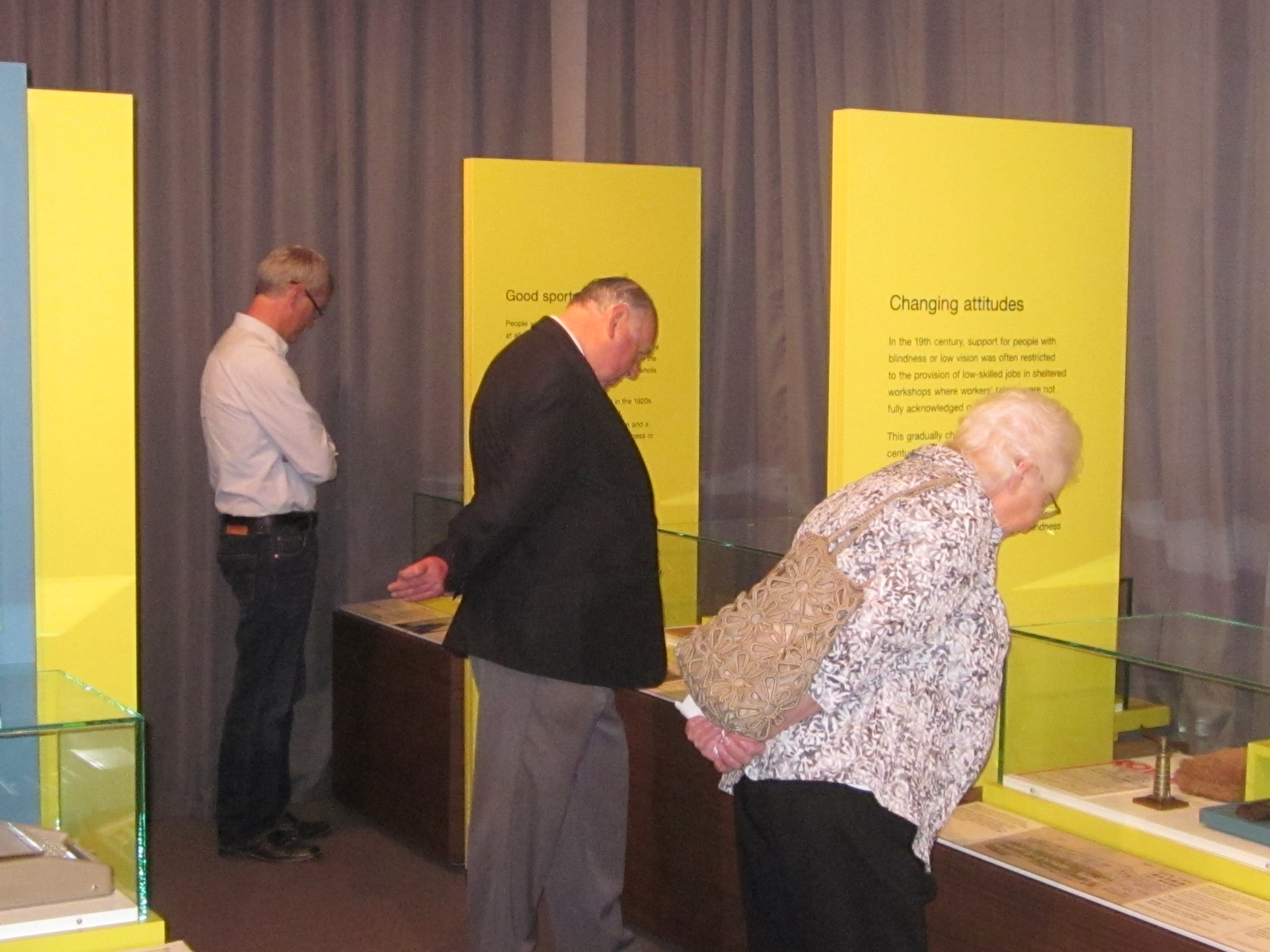 Guests enjoy the displays at the Living in a Sensory World exhibition launch
