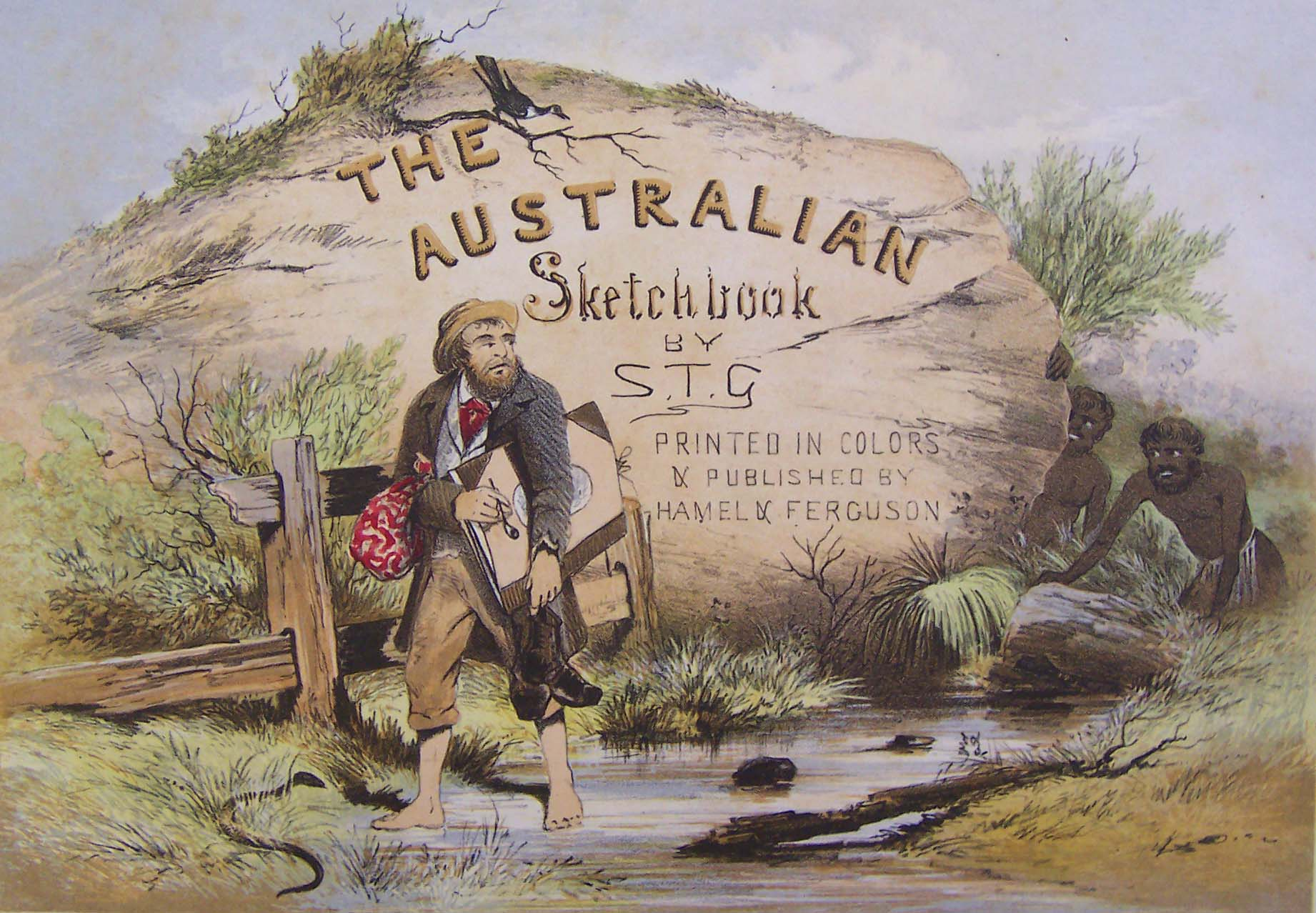 Title page of The Australian Sketchbook (1864) by S.T. Gill
