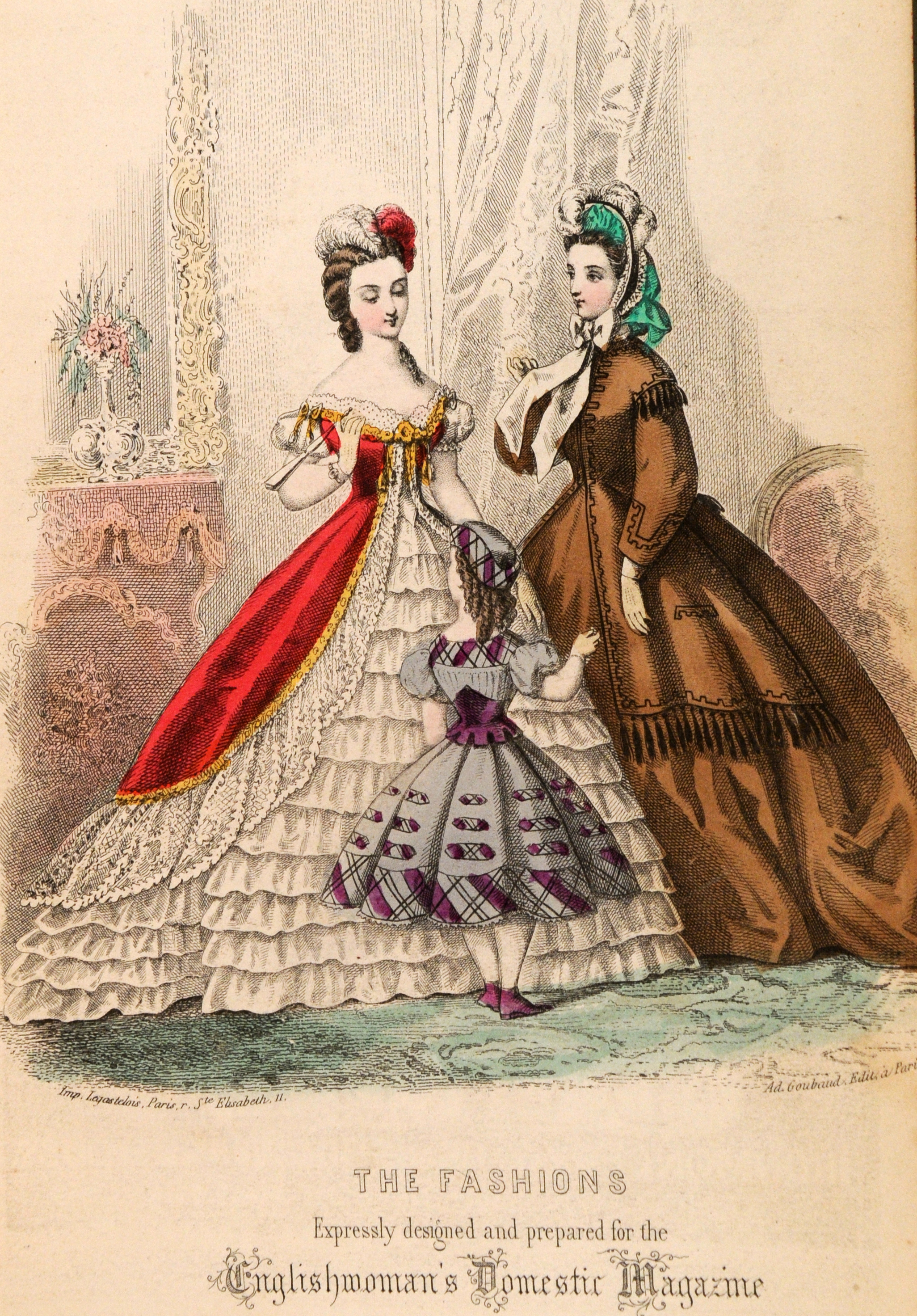Englishwoman's Domestic Magazine fashions (December 1863) Image: Gold Museum Collection (70.5727)